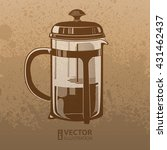brown artistic hand drawn... | Shutterstock .eps vector #431462437