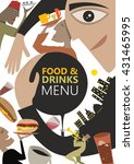 abstract food and drinks menu...   Shutterstock .eps vector #431465995
