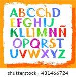 spanish alphabet  capital...   Shutterstock .eps vector #431466724