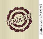 democrat rubber grunge seal | Shutterstock .eps vector #431475799