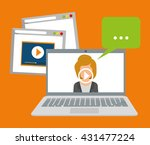 online training design.... | Shutterstock .eps vector #431477224