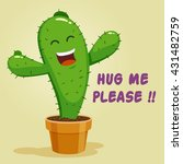 vector stock of cactus cartoon... | Shutterstock .eps vector #431482759