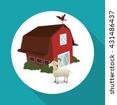 farm design. stable icon. flat...   Shutterstock .eps vector #431486437