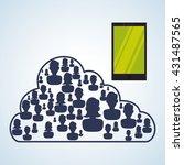 social network design. social... | Shutterstock .eps vector #431487565