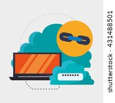 cloud computing design. media... | Shutterstock .eps vector #431488501