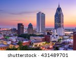 Small photo of Mobile, Alabama, USA downtown skyline.