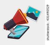 digital marketing design.... | Shutterstock .eps vector #431490529