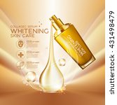 collagen serum background...   Shutterstock .eps vector #431498479