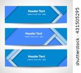 set of modern blue horizontal... | Shutterstock .eps vector #431505295