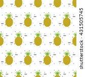 pineapple summer seamless... | Shutterstock . vector #431505745