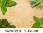 mixed herb frame | Shutterstock . vector #43151008