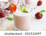 photos milkshake with...   Shutterstock . vector #431513497