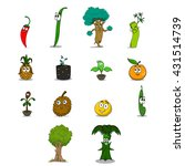 funny vegetables set | Shutterstock .eps vector #431514739