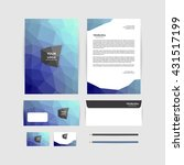 corporate identity template.... | Shutterstock .eps vector #431517199