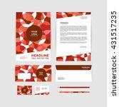 corporate identity template.... | Shutterstock .eps vector #431517235