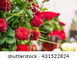 Stock photo bouquet of red roses 431522824