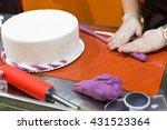 baker with gum paste   Shutterstock . vector #431523364