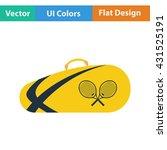 tennis bag icon. flat design....