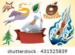 swimmer  sport  wolf  ribbon ...   Shutterstock .eps vector #431525839