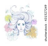 beautiful fashion women with... | Shutterstock .eps vector #431527249