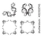 vector set of calligraphic... | Shutterstock .eps vector #431533741