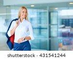 young businesswoman standing in ... | Shutterstock . vector #431541244