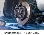 car brake disc without wheels...   Shutterstock . vector #431542357