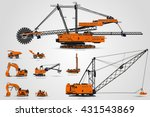 the quarry mining machines. the ... | Shutterstock .eps vector #431543869