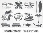 surf club emblem and design... | Shutterstock .eps vector #431544901