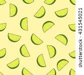 seamless lime pattern vector... | Shutterstock .eps vector #431545021