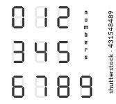 set of black simple digital