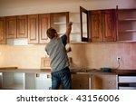 carpenter working on new... | Shutterstock . vector #43156006