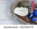 vintage christmas background...   Shutterstock . vector #431562475