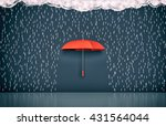 wall with the drawing of dark... | Shutterstock . vector #431564044