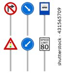road signs set on a white... | Shutterstock .eps vector #431565709