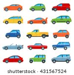 set of flat design passenger... | Shutterstock .eps vector #431567524