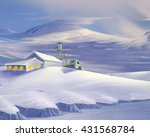 polar research station in... | Shutterstock . vector #431568784