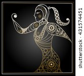 abstract sport vector runner ... | Shutterstock .eps vector #431574451