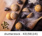 eid dates sweets | Shutterstock . vector #431581141