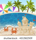 illustration of crab and sand... | Shutterstock .eps vector #431582509