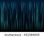 stream of binary code on screen....   Shutterstock .eps vector #431584045