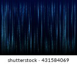 stream of binary code on screen.... | Shutterstock .eps vector #431584069