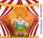 juggling cartoon clown | Shutterstock .eps vector #431584207