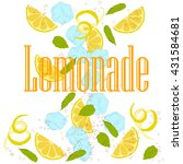 pattern lemonade  carbonated... | Shutterstock .eps vector #431584681