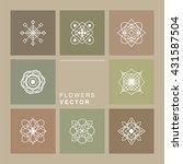 set of 8 geometric graphic... | Shutterstock .eps vector #431587504