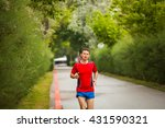 young man preparing for... | Shutterstock . vector #431590321