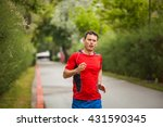 young man preparing for... | Shutterstock . vector #431590345