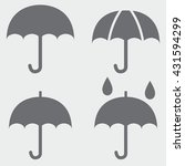umbrella icons | Shutterstock .eps vector #431594299
