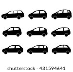 cars set on a white background | Shutterstock .eps vector #431594641