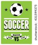 soccer typographical vintage... | Shutterstock .eps vector #431599375